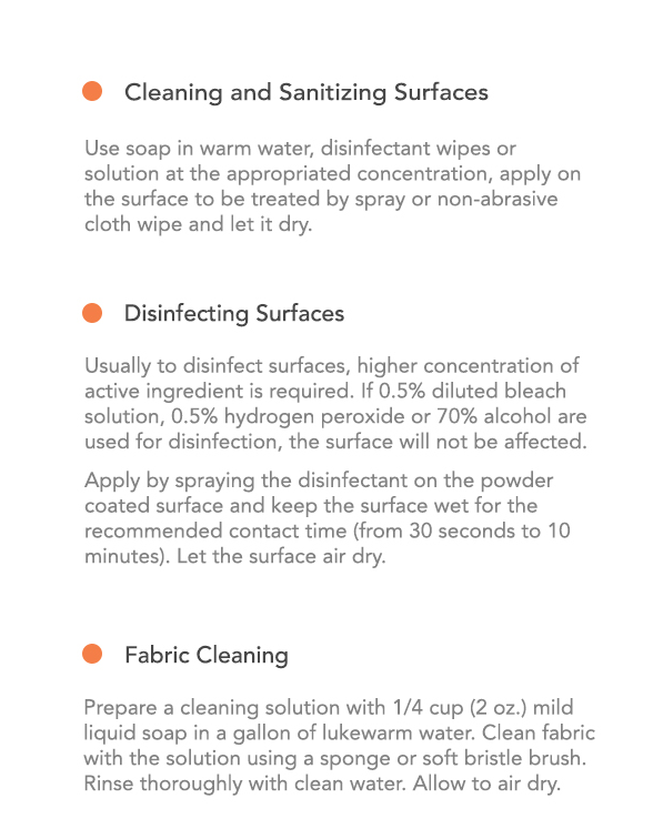 Product Care Guide page 2